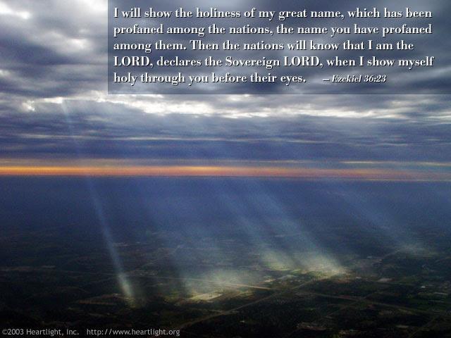 Inspirational illustration of Ezekiel 36:23