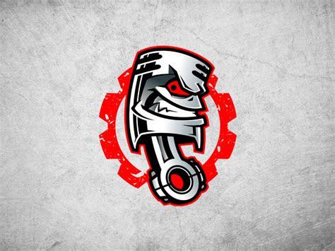 piston logo mascot  josip dribbble
