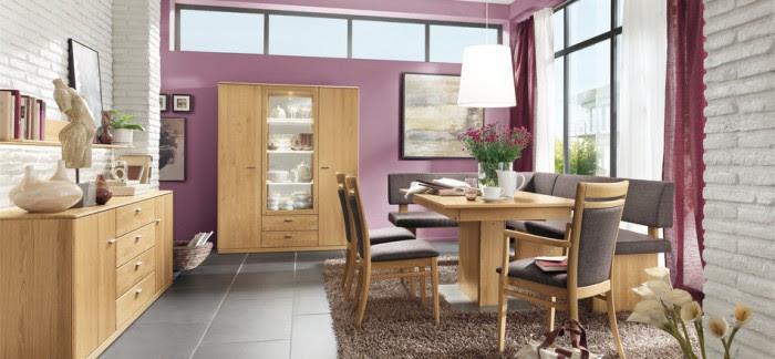 modern purple dining room