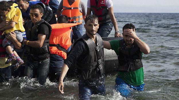 migrantes llegan a Kos