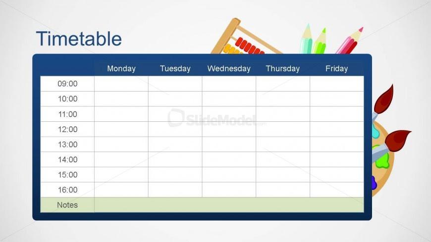 School Editable Timetable PowerPoint Template - SlideModel