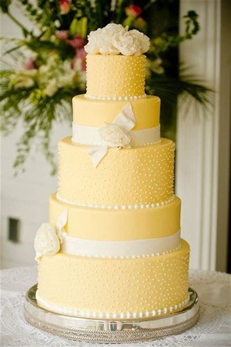 Yellow Wedding Cakes   Wedding Ideas   CHWV