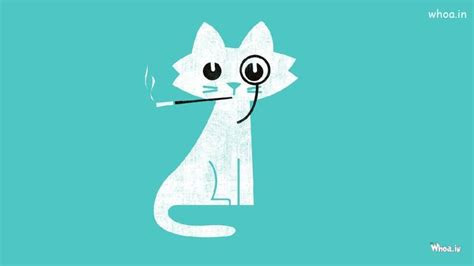 smoking cat funny cartoon hd wallpaper