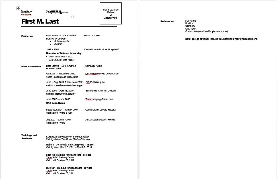 paano gumawa ng resume  sample template  halimbawa ng resume