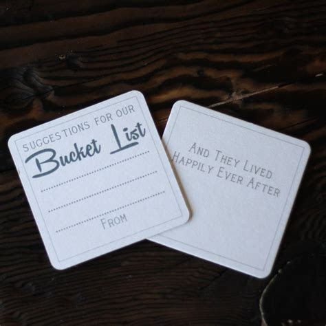 suggestions for our bucket list x 10 by the wedding of my