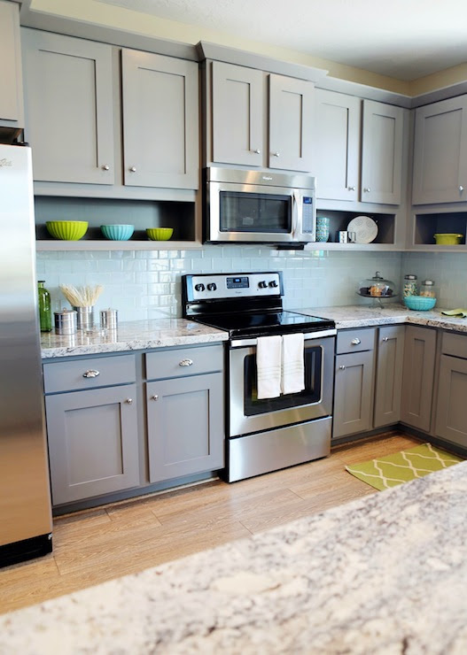 Gray Kitchen Cabinets - Contemporary - kitchen - Utah ...