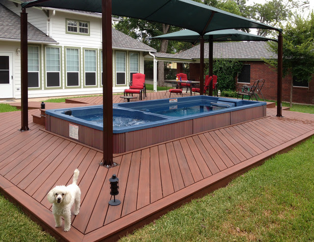 Endless Pool® Swim Spa with Hot Tub - Contemporary - Swimming ...