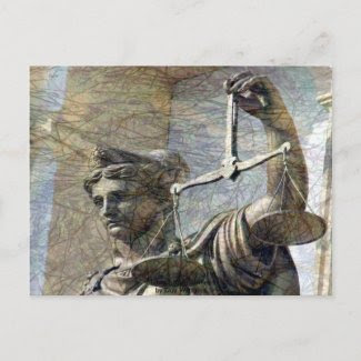 Lady Justice Statue Post Cards