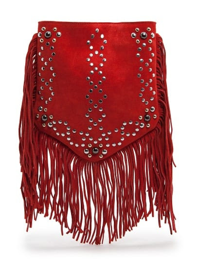 Studs and fringes bag