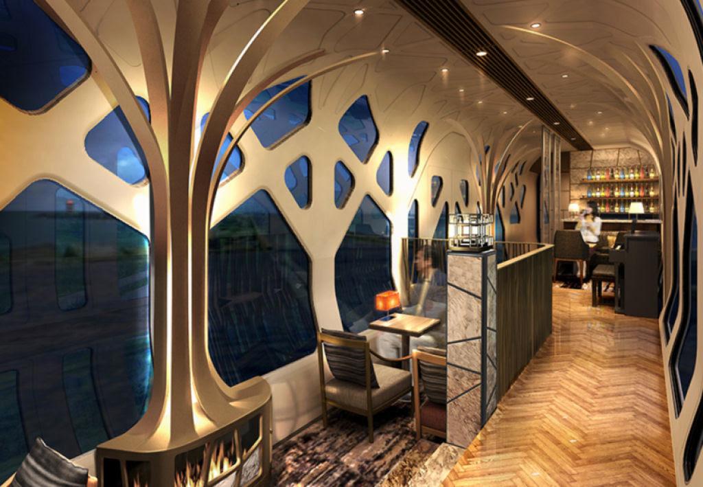 O interior do Shiki-shima: o trem mais luxuoso do mundo que atravessa o Japão 03