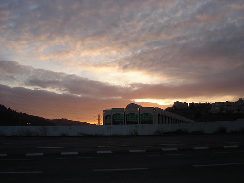 The sky at sunset over Malha