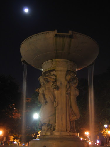 Dupont Circle Fountain at Night