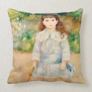 Boy with a Whip, Auguste Renoir throwpillow