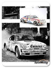 Maqueta de coche 1/24 Arena - Porsche 911SC Grupo 4 Eminence - Nº 1 - Walter Rohl + Geistdorfer - Rally de Sanremo 1981 - maqueta de resina