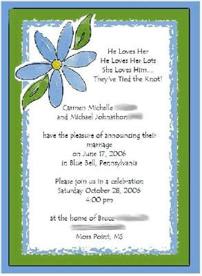 Open Question: Invitation Wording   Weddingbee