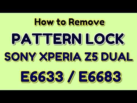How to remove pattern lock Sony Xperia Z5 Dual E6633 / E6683 | Hindi