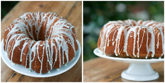 Eggnog Bundt collage