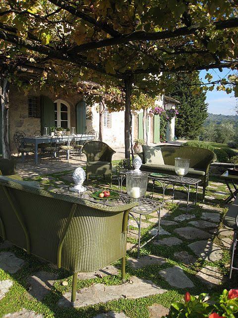 Outdoor living at an Italian villa