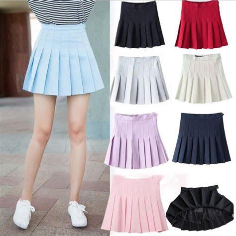 japanese high waist pleated skirts anime cosplay school