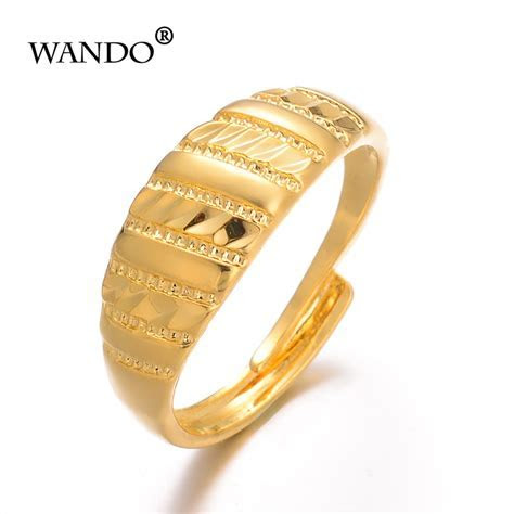 WANDO Ethiopian Women Wedding Ring Gold Color Eritrea