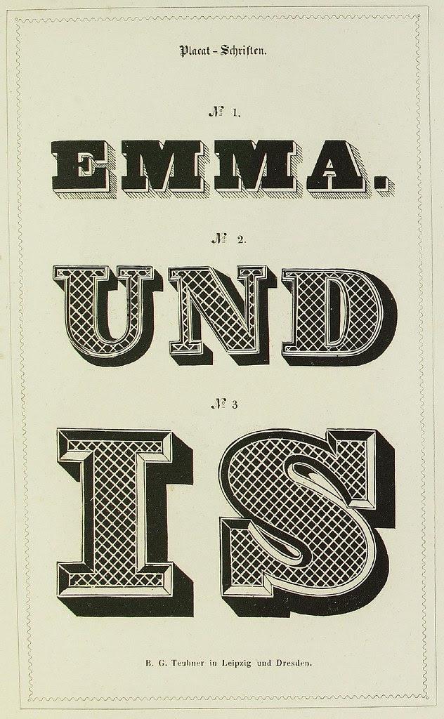 Schrift- und Polytypen-Proben BG Teubner, 1846 c