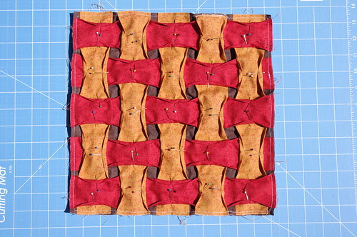 Cathedral Window Weave Block