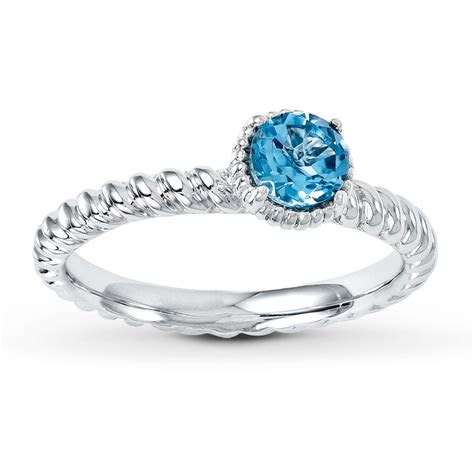 Stackable Ring Blue Topaz Sterling Silver   37348530199   Kay