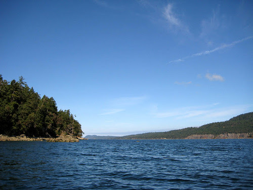 View NW along N side Wallace Island
