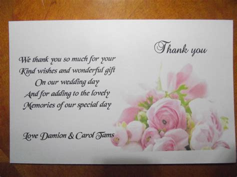 Thank You Cards Personalised Pink rose design x 10
