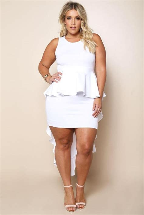 36 Smart Plus Size Peplum Outfit Ideas To Hide Those