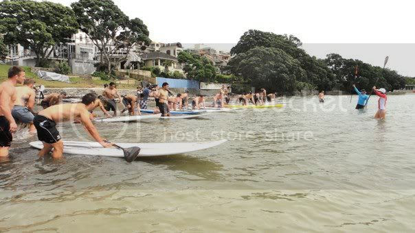 A Stand Up Paddle Race in Auckland, New Zealand