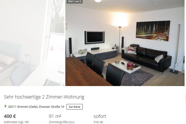 sehr hochwertige 2 zimmer wohnung 28211 bremen gete elsasser. Black Bedroom Furniture Sets. Home Design Ideas