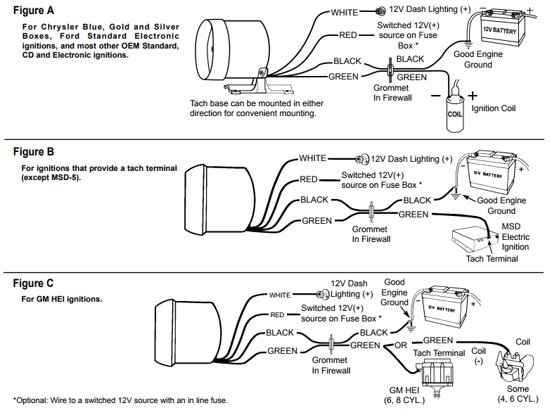 Auto Gauge Tach Wiring Diagram