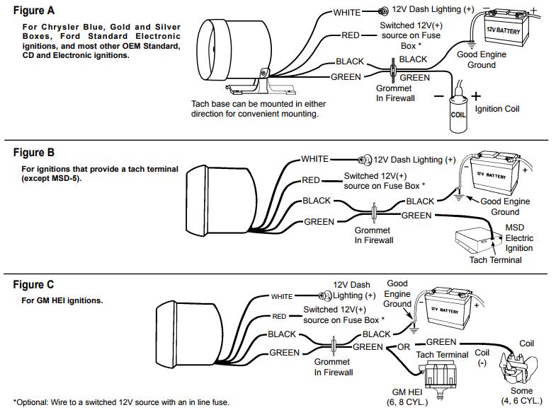 Aftermarket Rpm Gauge Wiring Diagram