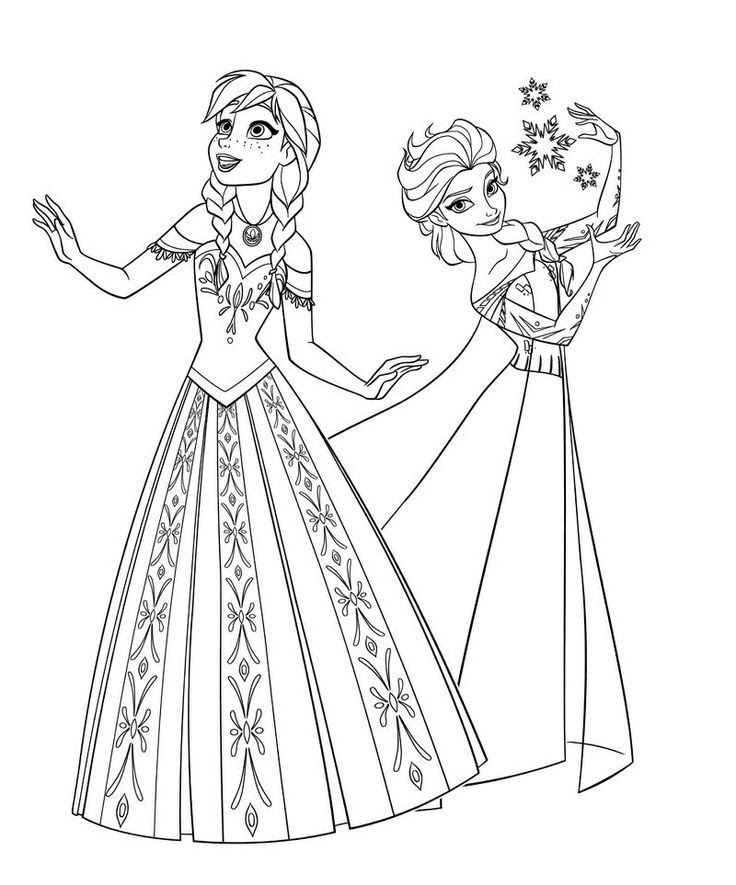 Frozen Coloring Pages Anna And Elsa And Olaf 205 Free Coloring