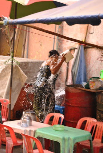 Woman in Yangon  by lelia22