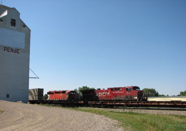 CP 9548 and 5928 at Pense, Saskatchewan