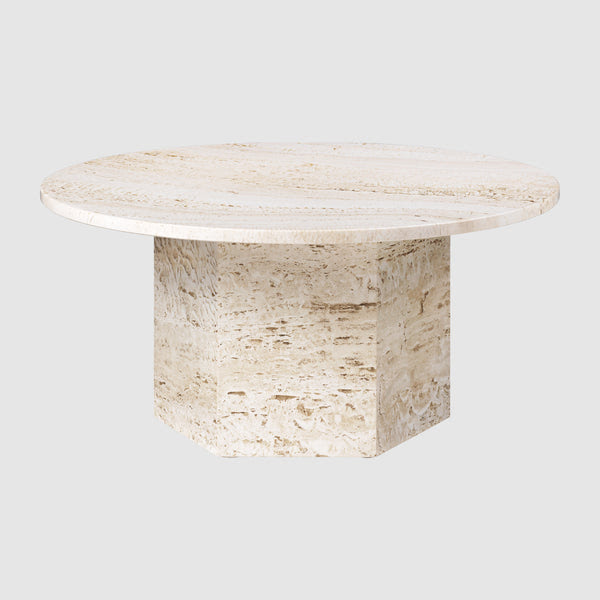 Epic Round Coffee Table In Travertine Diameter 80 Cm Gubi Webshop