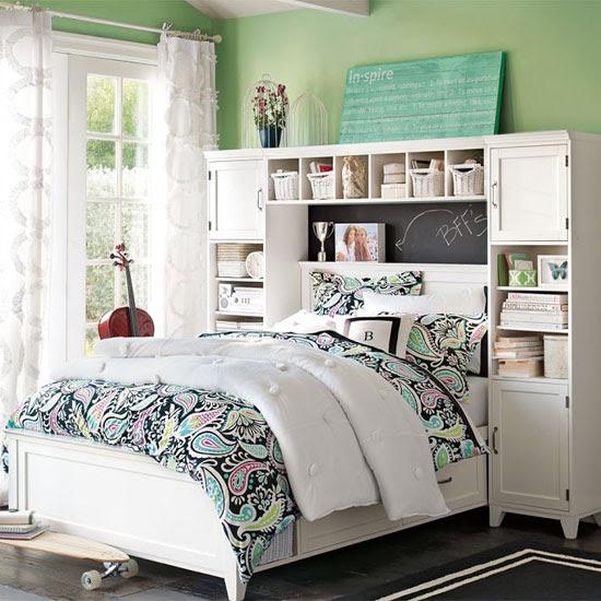 غرفة نوم جميلة باستغلال ذكى للمكان -اليوم السابع -11 -2015