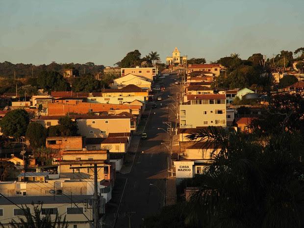Bela imagem de Cambuquira registrada durante as filmagens (Foto: Andréa Cebukin)