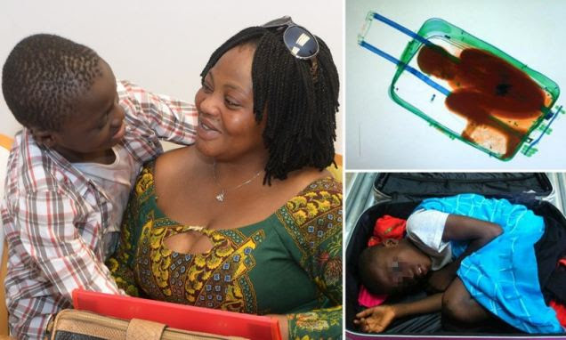 Adou Ouattara caught being smuggled into Spain inside a suitcase reunited with mother