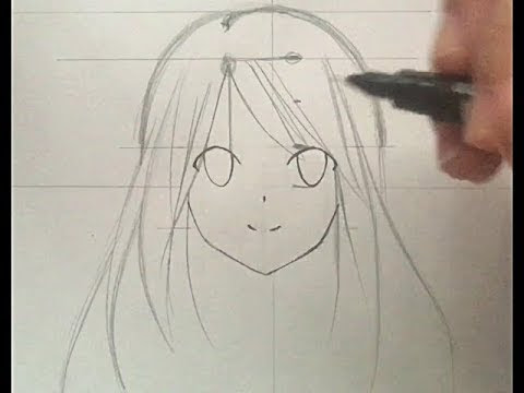 Beginner Anime Girl Easy Face Drawing