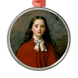 Bright Eyes by Sir John Everett Millais Christmas Tree Ornaments