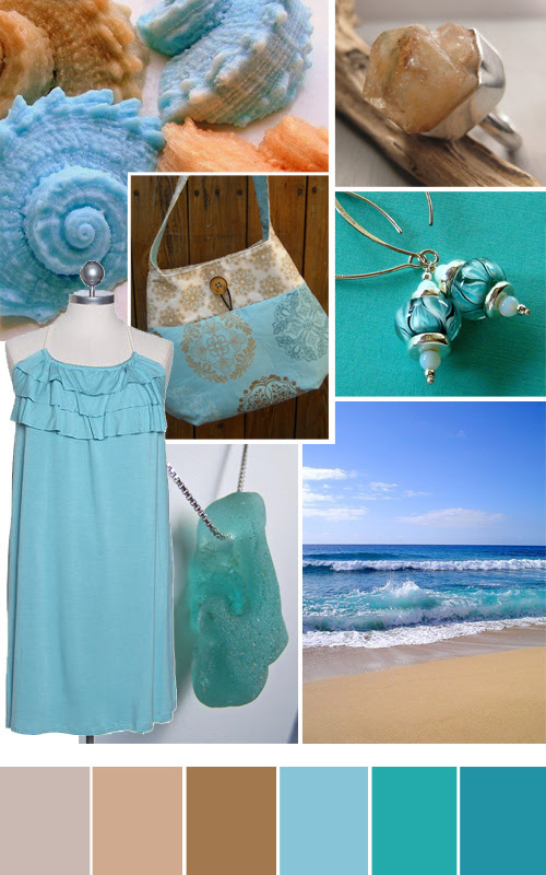 sand and surf color love handmade items