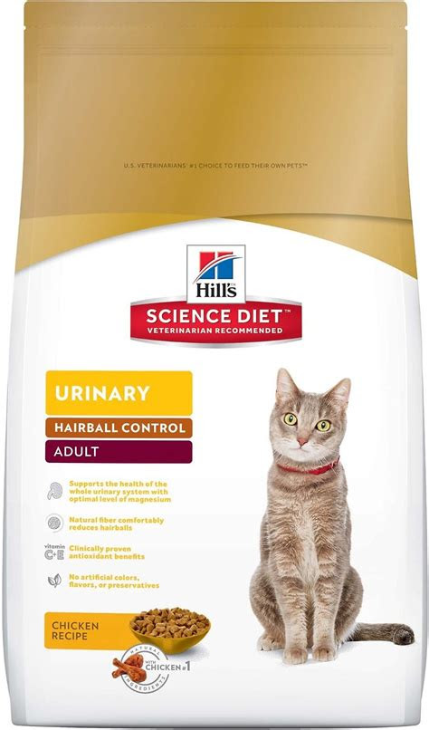 hills science diet adult urinary hairball control dry cat