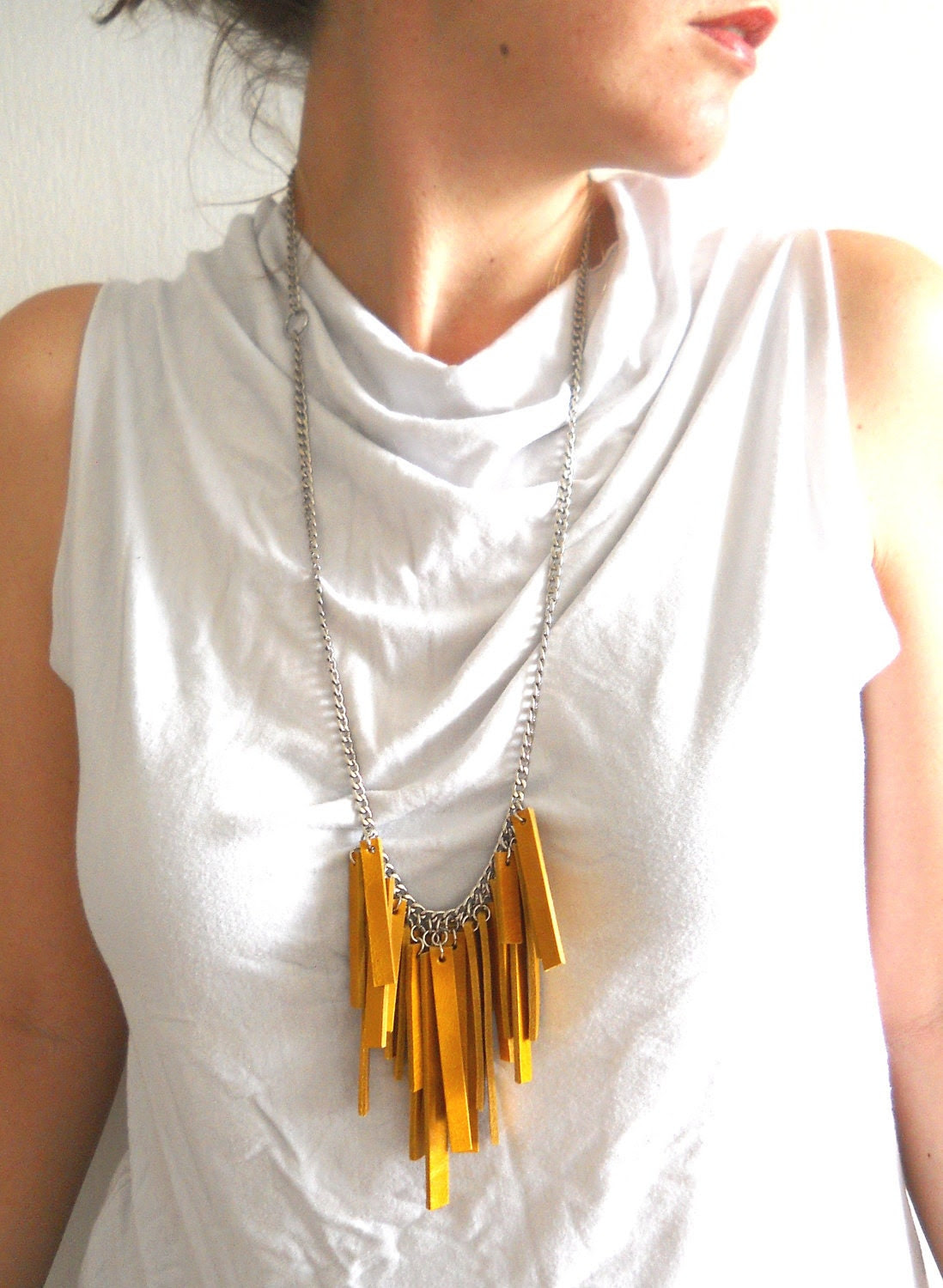 leather artist necklace