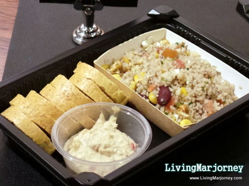 COUSCOUS SALAD, SMOKED TUNA SPREAD WITH BAGEL CHIPS, by LivingMarjorney on Flickr