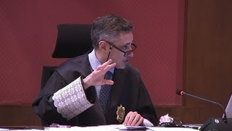 El fiscal Emilio Sánchez Ulled, aquest dijous ratificant les peticions de pena per a Mas, Ortega i Rigau