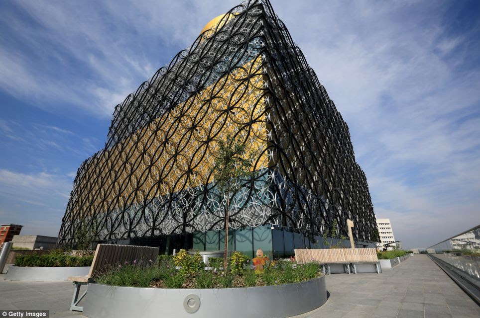 Impressive: The new Library of Birmingham, which has taken more than three years to build and cost £198m, is set to open on September 3