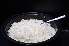 sun cooked rice